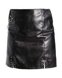 Minifalda de Cuero Negra de Missguided