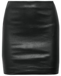 Minifalda de cuero negra de The Row