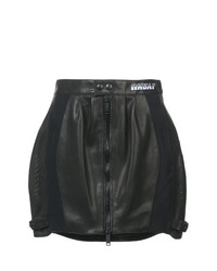 Minifalda de Cuero Negra de Unravel Project