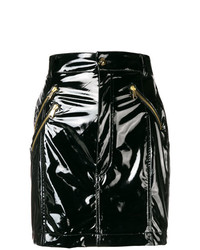 Minifalda de Cuero Negra de Versace Jeans