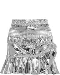Minifalda de cuero plateada de Isabel Marant