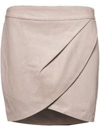 Minifalda de Cuero Rosada