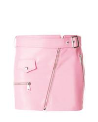 Minifalda de Cuero Rosada de Manokhi