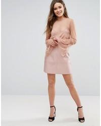 Minifalda de Cuero Rosada de New Look