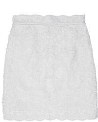 Minifalda de encaje blanca de Dolce & Gabbana