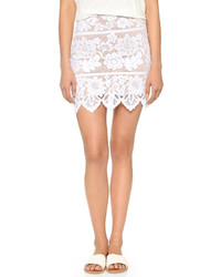 Minifalda de encaje blanca de For Love & Lemons