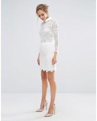 Minifalda de Encaje Blanca