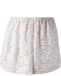 Minifalda de encaje blanca de No.21