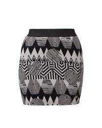 Minifalda de grecas alpinos gris