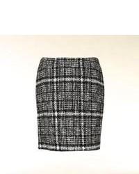 Minifalda de lana a cuadros