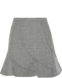 Minifalda de lana gris