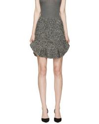 Minifalda de lana gris de Isabel Marant