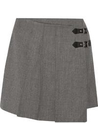 Minifalda de lana gris de Marc by Marc Jacobs