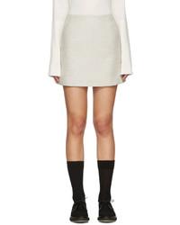 Minifalda de lana gris de YMC