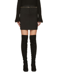 Minifalda de lana negra de Dsquared2