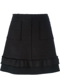 Minifalda de lana negra de Proenza Schouler