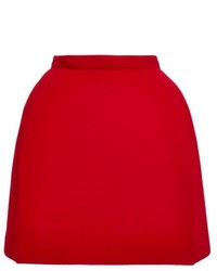 Minifalda de lana roja