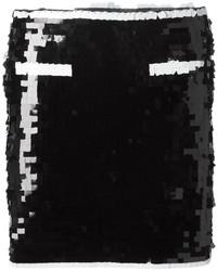 Minifalda de lentejuelas negra