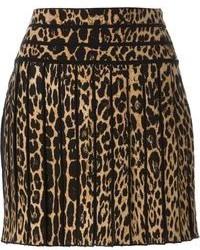 Minifalda de leopardo marrón