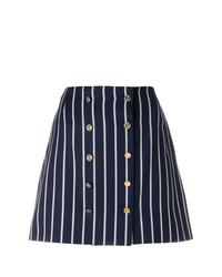 Minifalda de rayas verticales azul marino de Thom Browne
