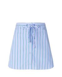 Minifalda de rayas verticales celeste de Victoria Victoria Beckham