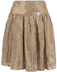 Minifalda de tul dorada de MICHAEL Michael Kors