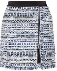 Minifalda de tweed azul