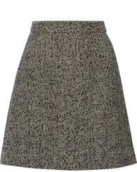 Minifalda de Tweed Gris Oscuro