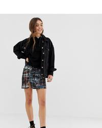 Minifalda efecto teñido anudado en multicolor de Pull&Bear