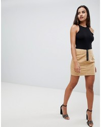Minifalda en beige de Missguided