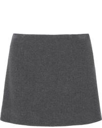 Minifalda en gris oscuro de Miu Miu