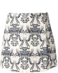 Minifalda estampada gris de M Missoni