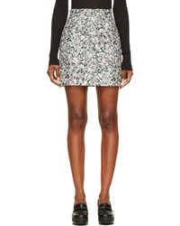 Minifalda estampada gris de Proenza Schouler