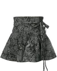Minifalda estampada negra de Marc Jacobs