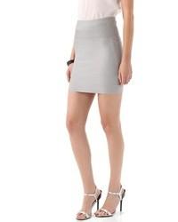 Minifalda gris de Herve Leger