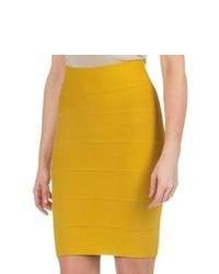 Minifalda mostaza
