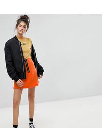 Minifalda naranja de Reclaimed Vintage