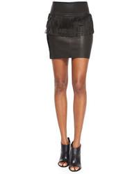 Minifalda Сon Flecos Negra