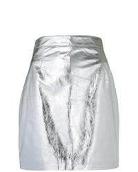 Minifalda plateada de Proenza Schouler