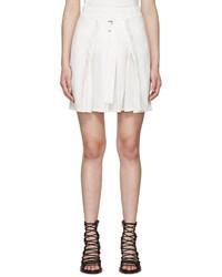 Minifalda Plisada Blanca de Ann Demeulemeester