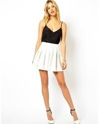 Minifalda Plisada Blanca de Asos