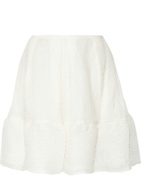 Minifalda Plisada Blanca de Erdem