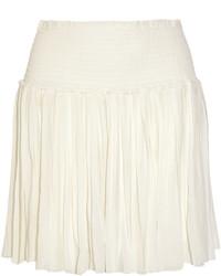 Minifalda Plisada Blanca de Etoile Isabel Marant