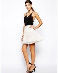 Minifalda Plisada Blanca de Jones & Jones