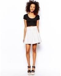 Minifalda Plisada Blanca de Vero Moda