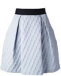 Minifalda plisada celeste de Pinko