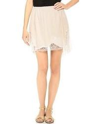 Minifalda Plisada Beige de Nina Ricci