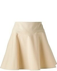 Minifalda Plisada Beige de RED Valentino