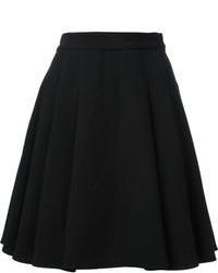 Minifalda plisada negra de Ermanno Scervino