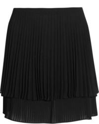 Minifalda plisada negra de Topshop